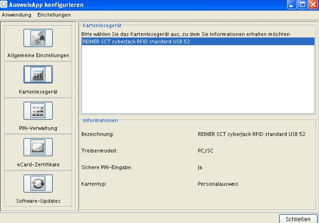 Screenshot AusweisApp: nPA erkannt